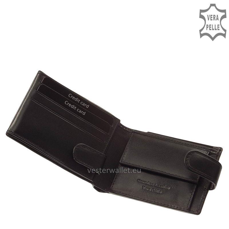 Exkluzív Vester pénztárca VF102/T fekete belső kép-1