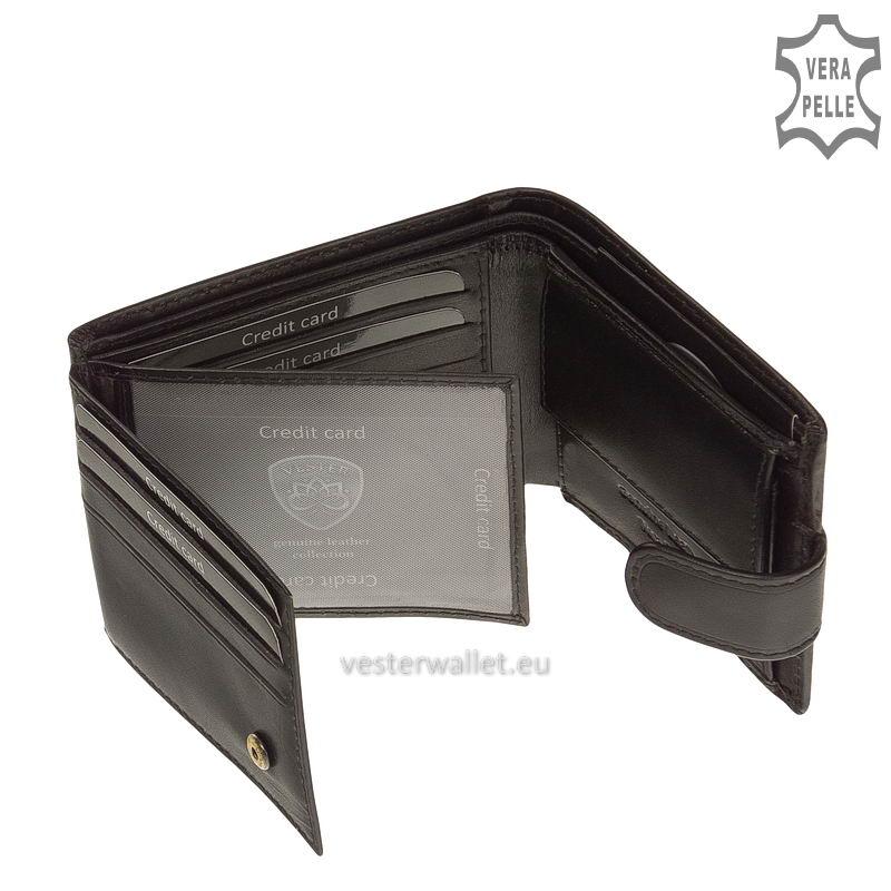 Exkluzív Vester pénztárca VF102/T fekete belső kép-2