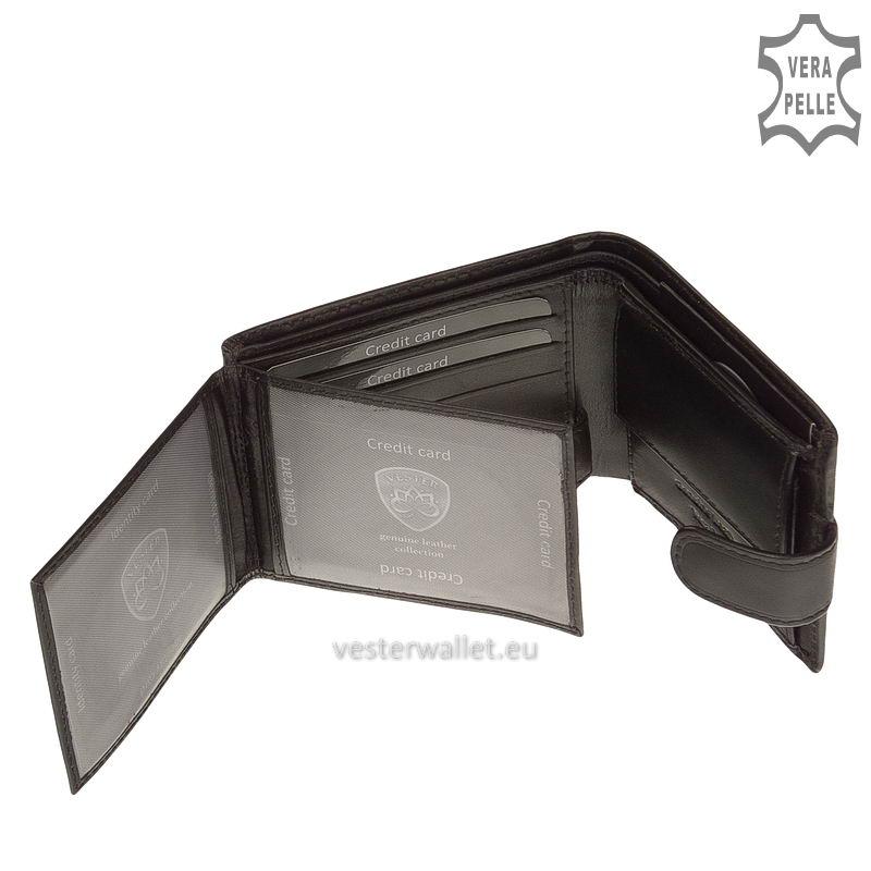 Exkluzív Vester pénztárca VF102/T fekete belső kép-3