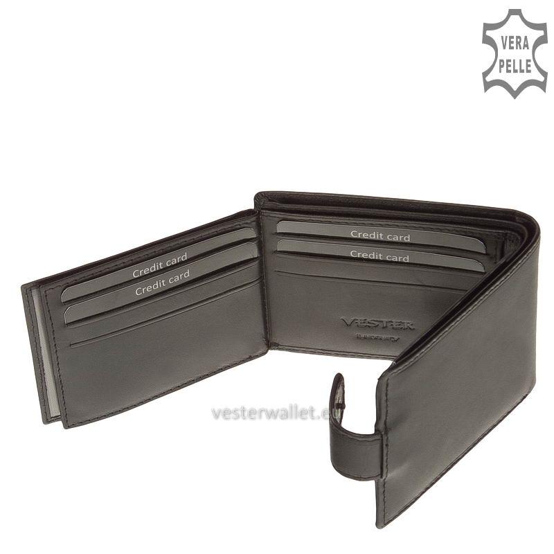 Exkluzív Vester pénztárca VF102/T fekete belső kép-4