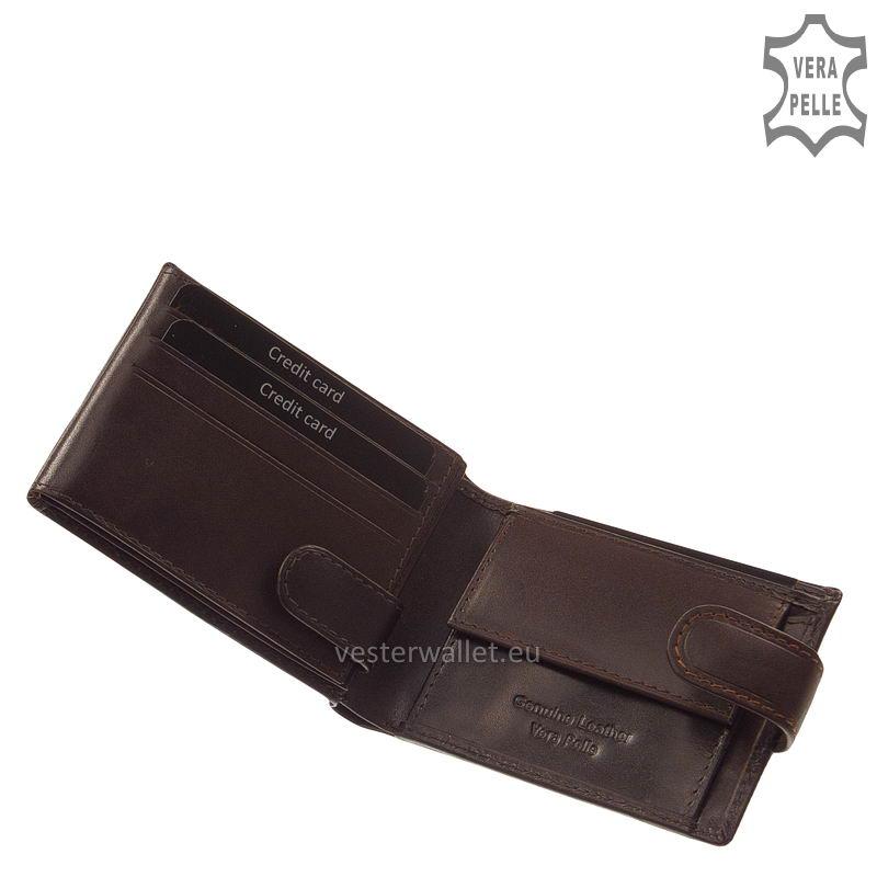 Exkluzív Vester pénztárca VF102/T barna belső kép-1