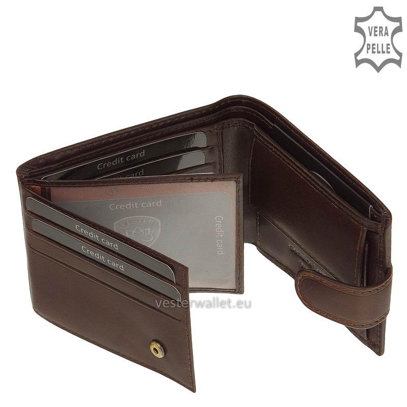 Exkluzív Vester pénztárca VF102/T barna belső kép-2