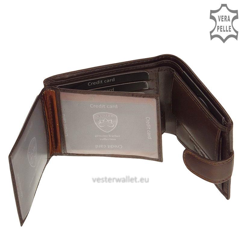 Exkluzív Vester pénztárca VF102/T barna belső kép-3