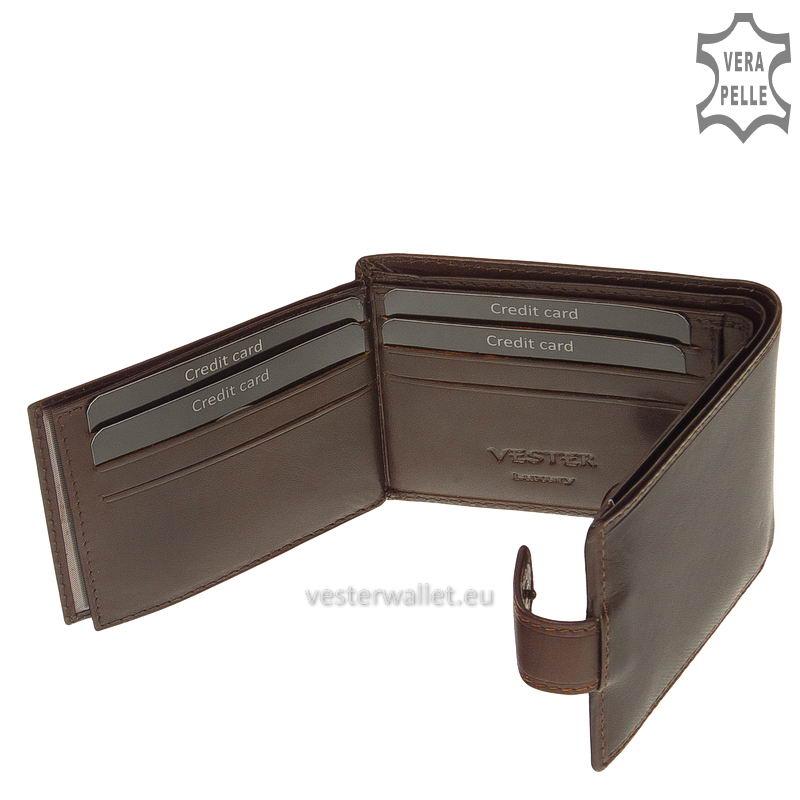 Exkluzív Vester pénztárca VF102/T barna belső kép-4