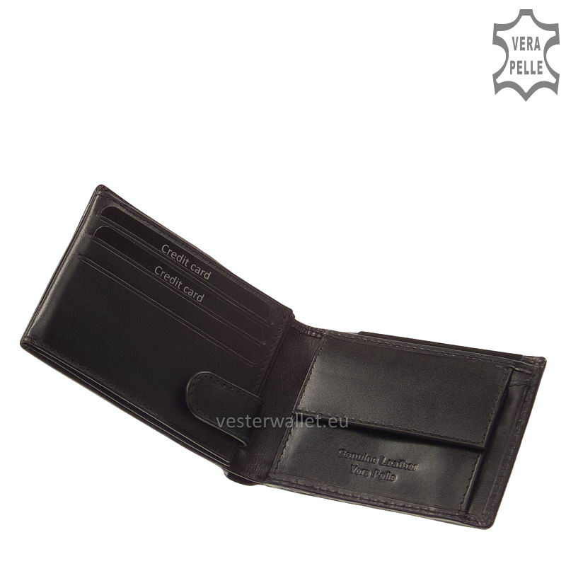 Exkluzív Vester pénztárca VF102 fekete belső kép-1
