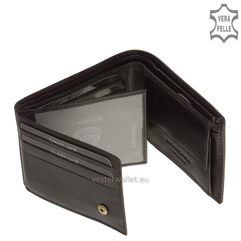 Exkluzív Vester pénztárca VF102 fekete belső kép-2