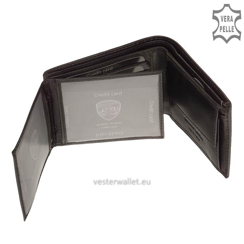 Exkluzív Vester pénztárca VF102 fekete belső kép-3
