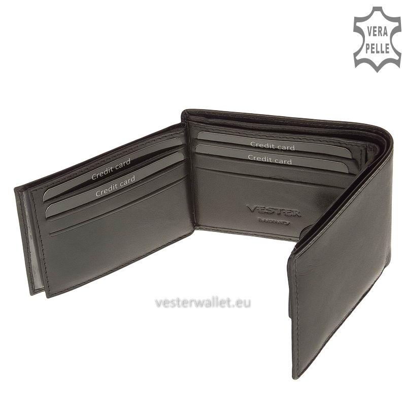 Exkluzív Vester pénztárca VF102 fekete belső kép-4
