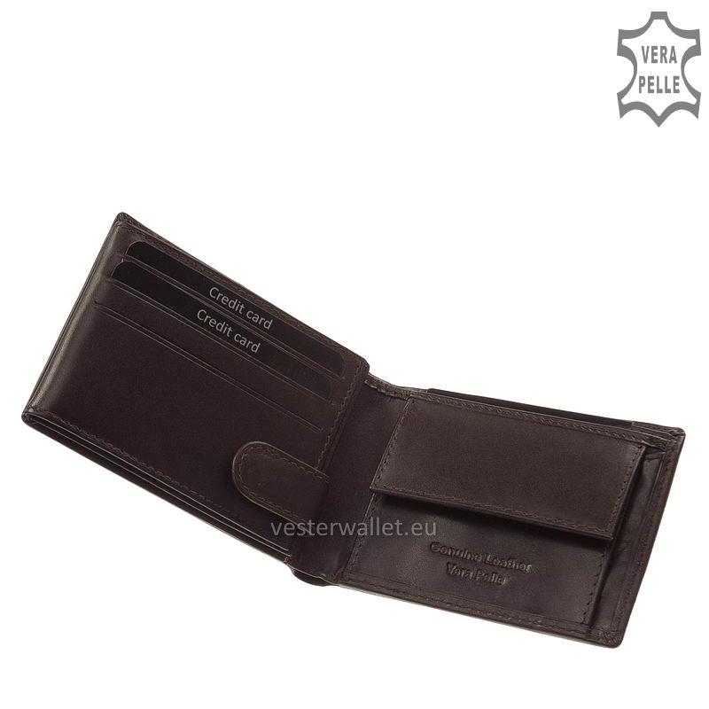 Exkluzív Vester pénztárca VF102 barna belső kép-1