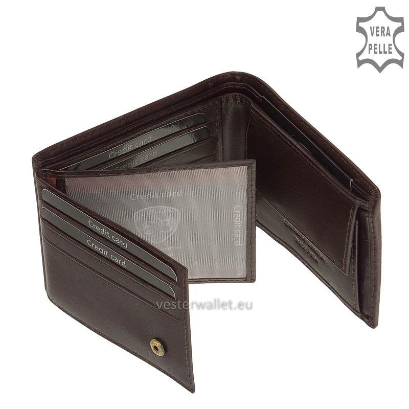 Exkluzív Vester pénztárca VF102 barna belső kép-2
