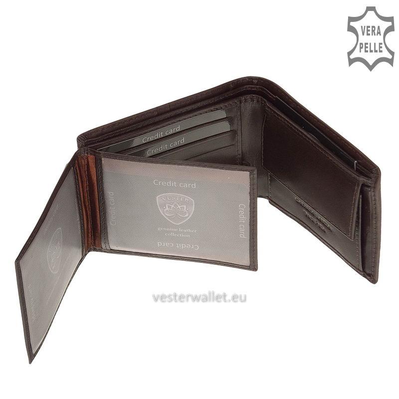 Exkluzív Vester pénztárca VF102 barna belső kép-3