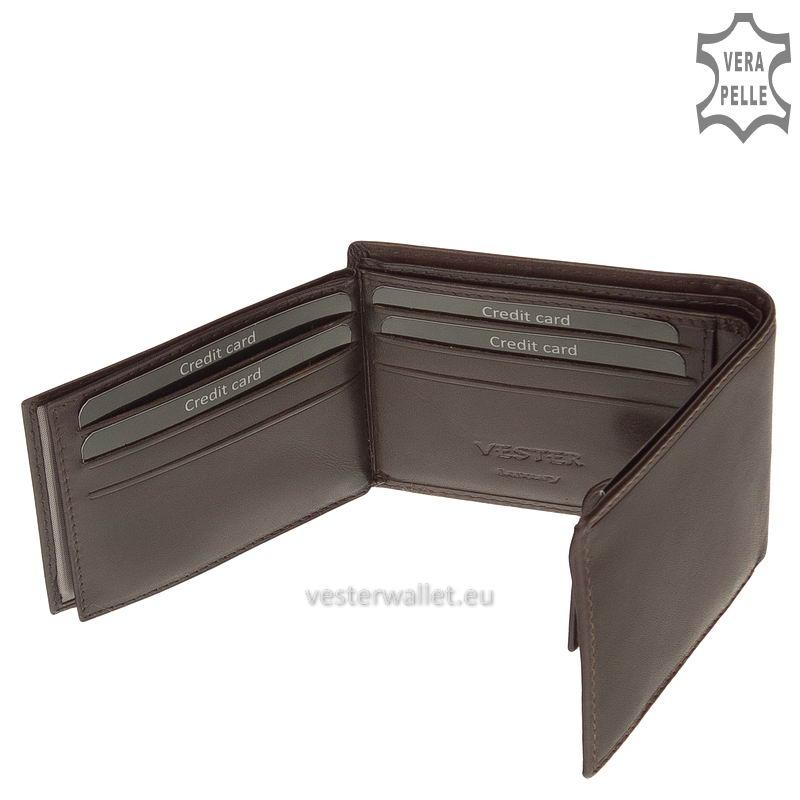 Exkluzív Vester pénztárca VF102 barna belső kép-4