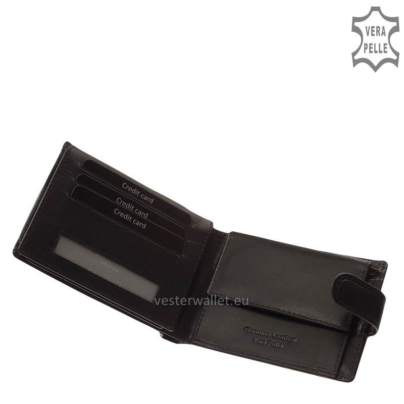 Exkluzív Vester pénztárca VF1027/T fekete belső kép-1