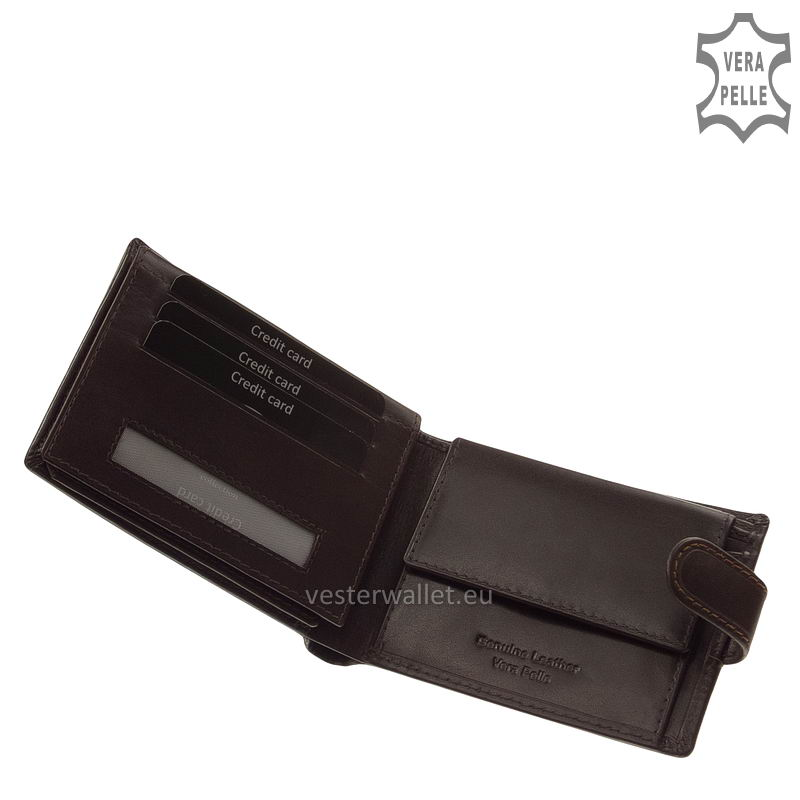 Exkluzív Vester pénztárca VF1027/T barna belső kép-1
