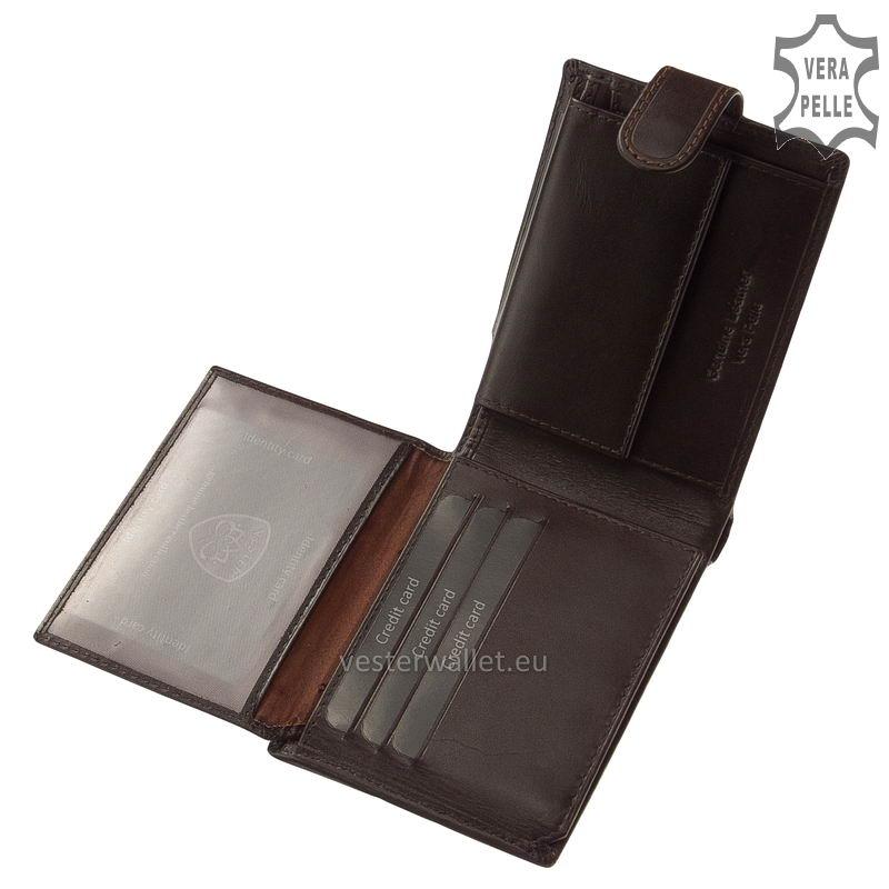 Exkluzív Vester pénztárca VF1027/T barna belső kép-2
