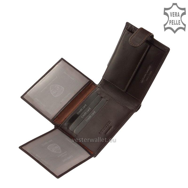 Exkluzív Vester pénztárca VF1027/T barna belső kép-3