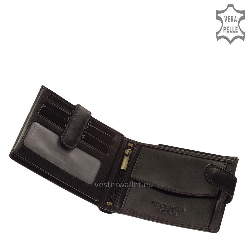 Exkluzív Vester pénztárca VF6002L/T fekete belső kép-1