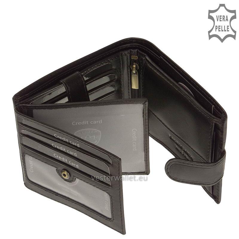 Exkluzív Vester pénztárca VF6002L/T fekete belső kép-2
