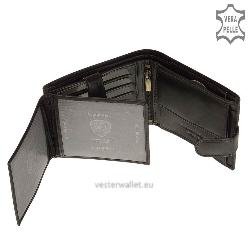 Exkluzív Vester pénztárca VF6002L/T fekete belső kép-3