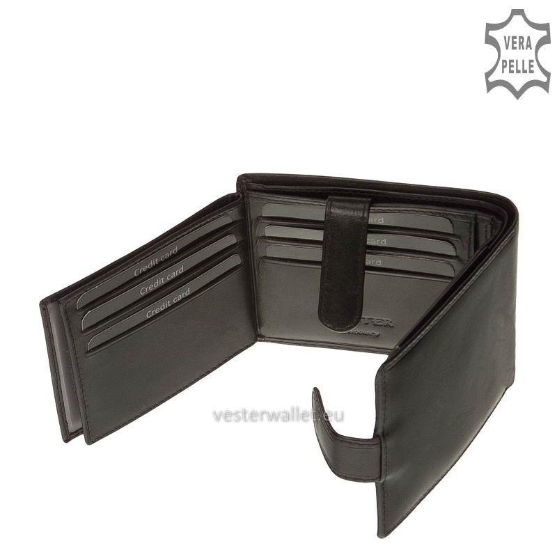 Exkluzív Vester pénztárca VF6002L/T fekete belső kép-4