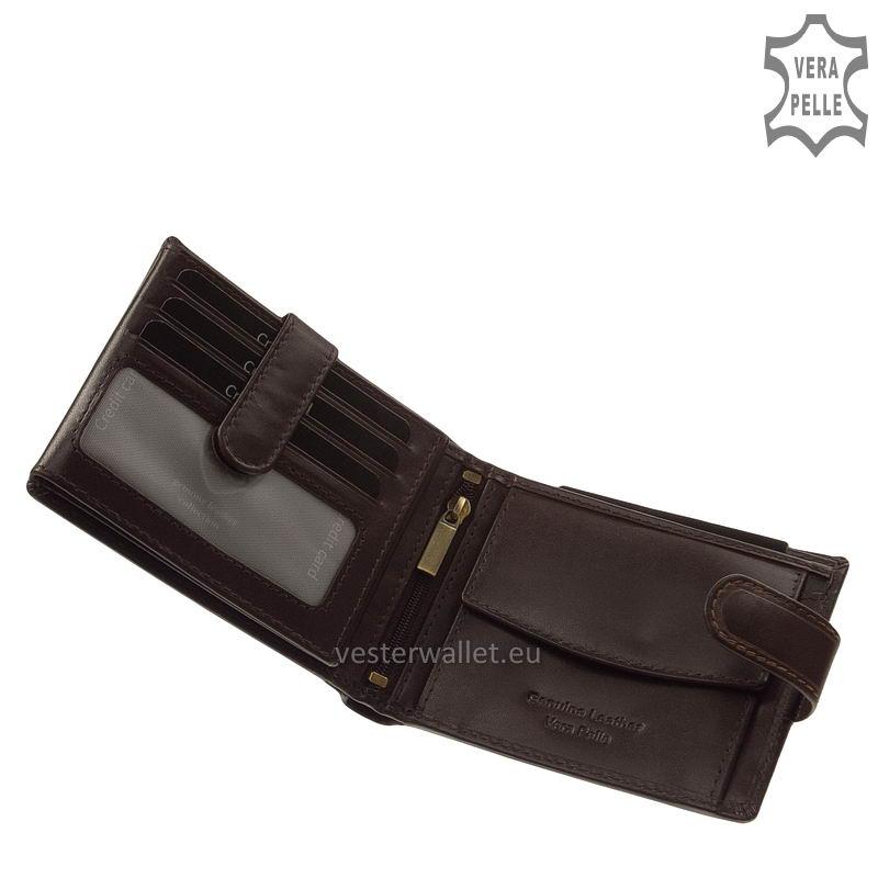 Exkluzív Vester pénztárca VF6002L/T barna belső kép-1