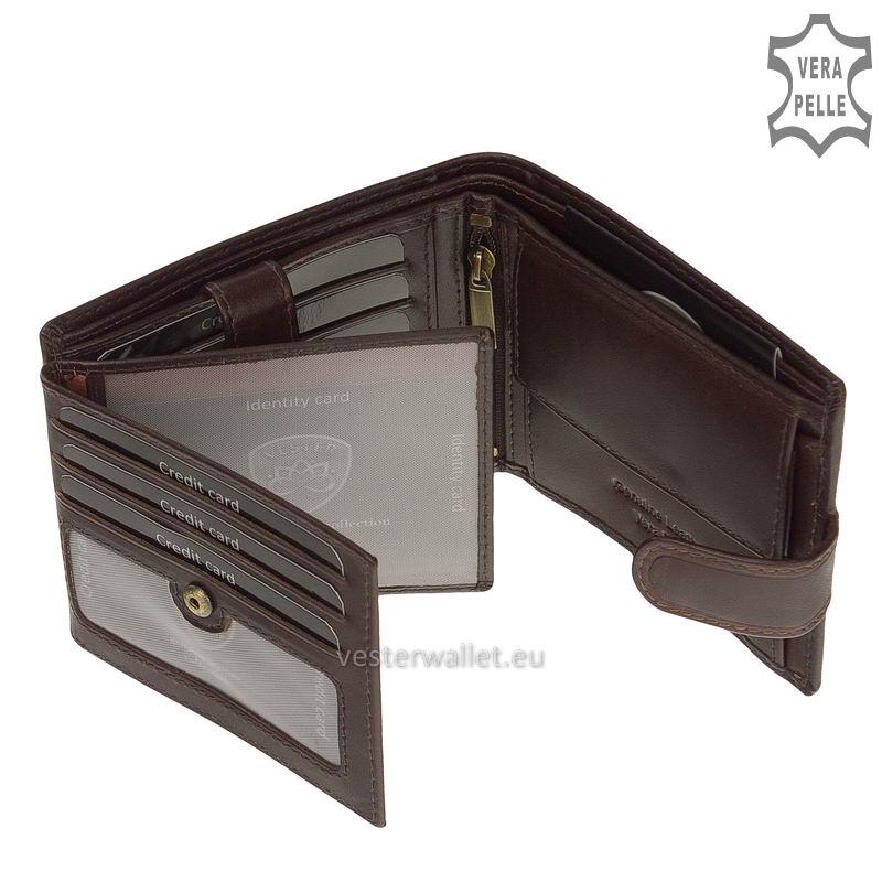 Exkluzív Vester pénztárca VF6002L/T barna belső kép-2