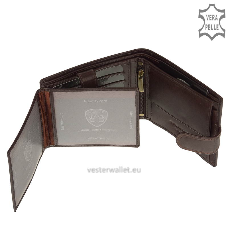 Exkluzív Vester pénztárca VF6002L/T barna belső kép-3