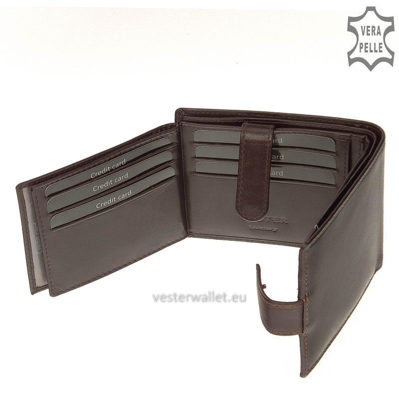 Exkluzív Vester pénztárca VF6002L/T barna belső kép-4