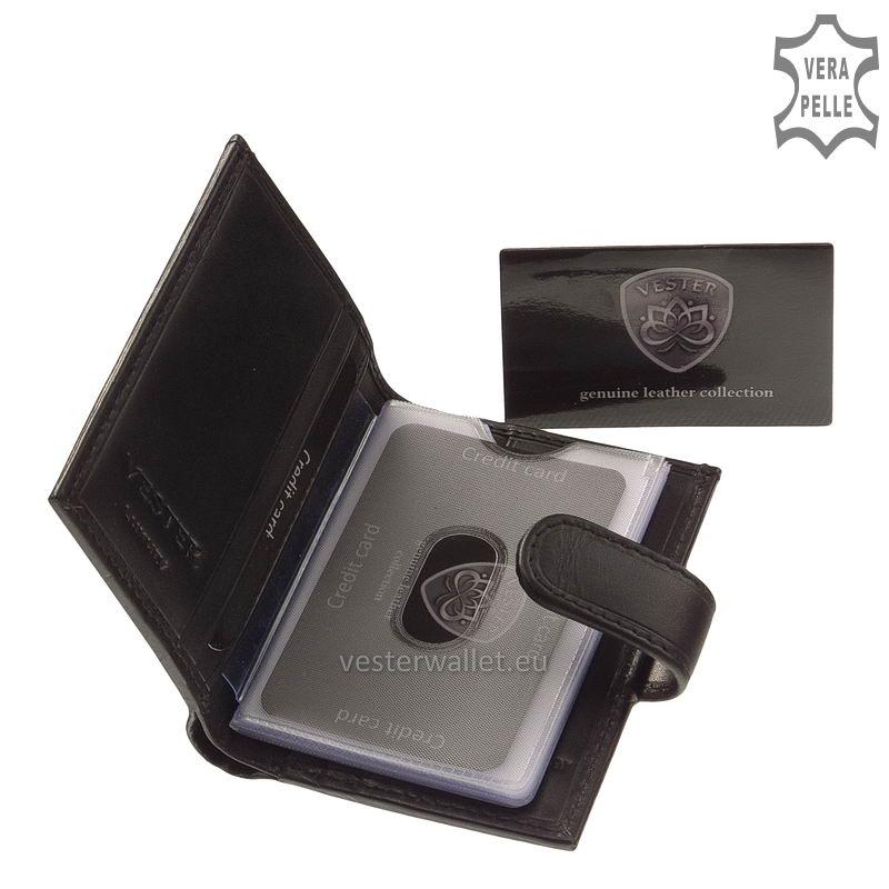 Exkluzív Vester kártyatartó VF808/T fekete belső kép-1