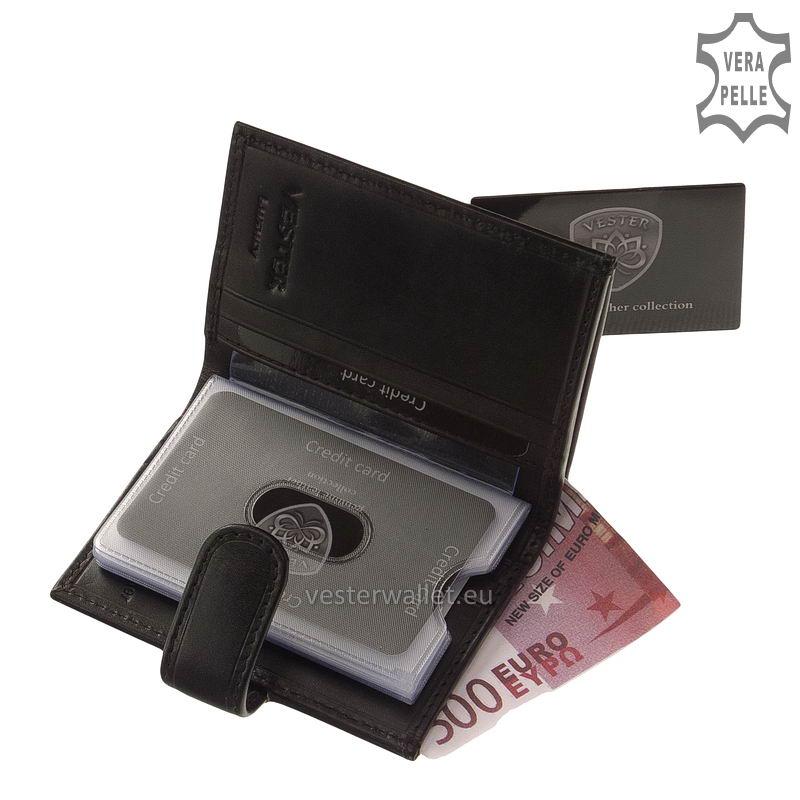 Exkluzív Vester kártyatartó VF808/T fekete belső kép-2