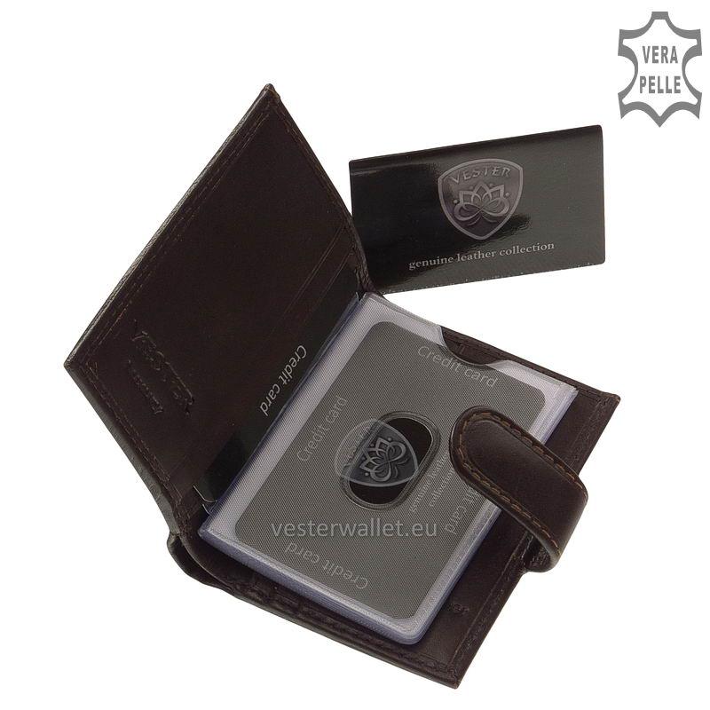 Exkluzív Vester kártyatartó VF808/T barna belső kép-1