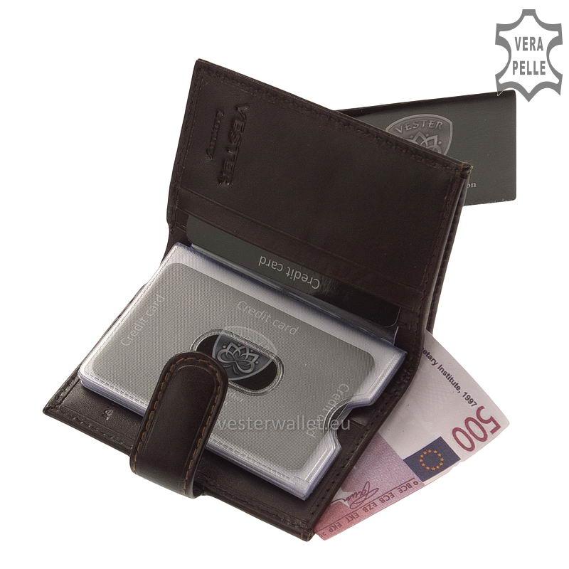 Exkluzív Vester kártyatartó VF808/T barna belső kép-2