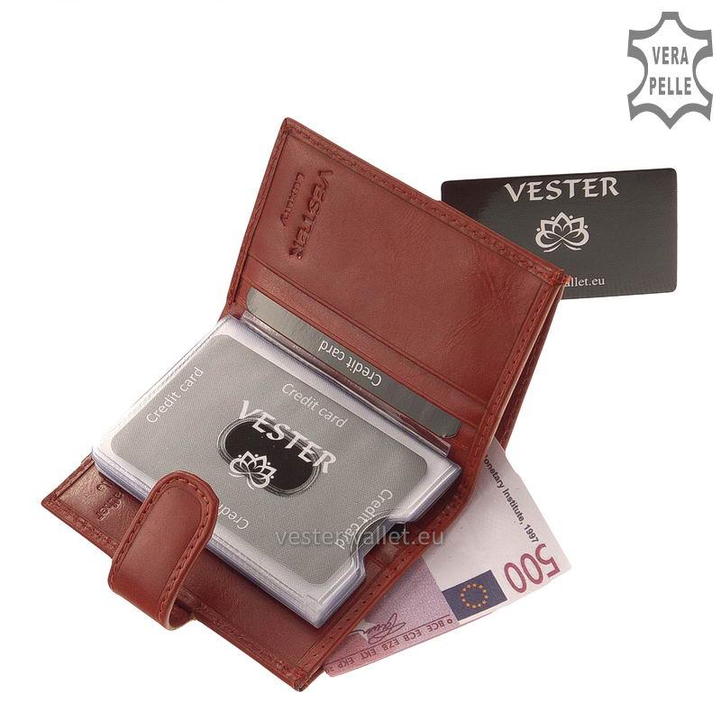 Elegáns Vester női bőr kártyatartó VLN808 piros