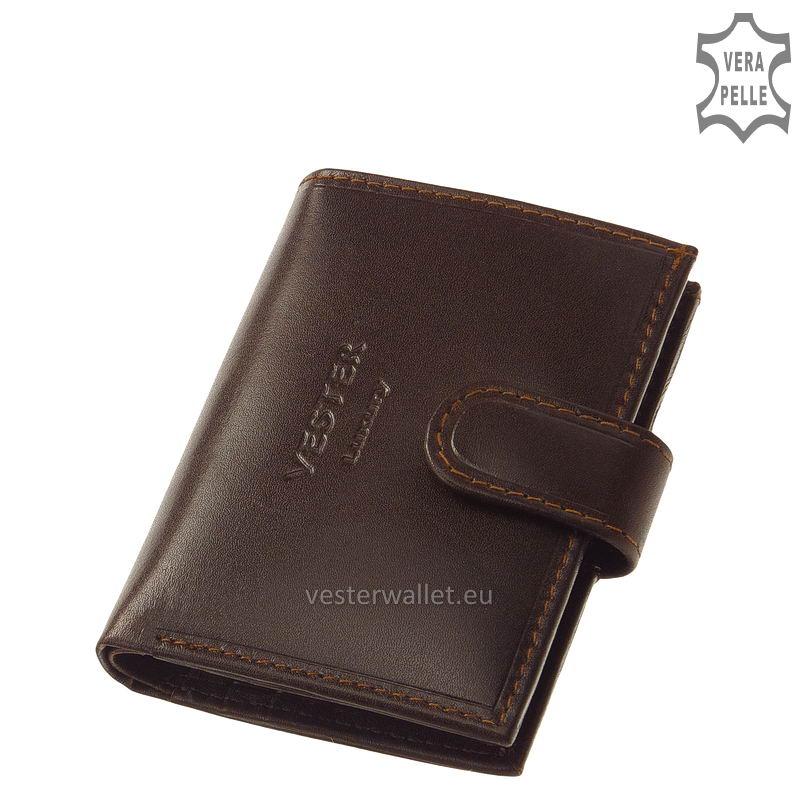 Elegáns Vester bőr kártyatartó VLN808 barna