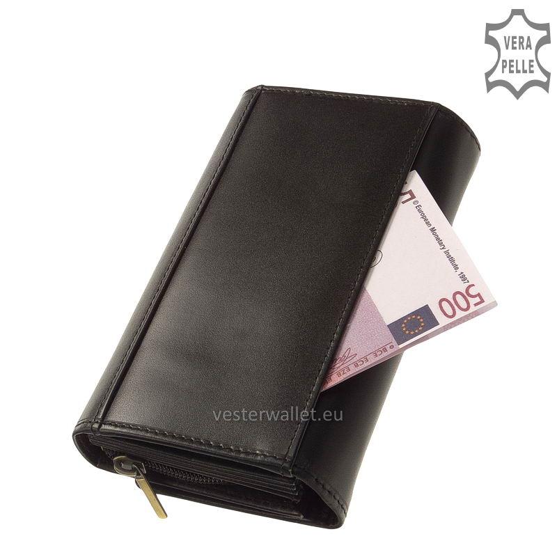Elegáns Vester női bőr pénztárca VLN100 fekete