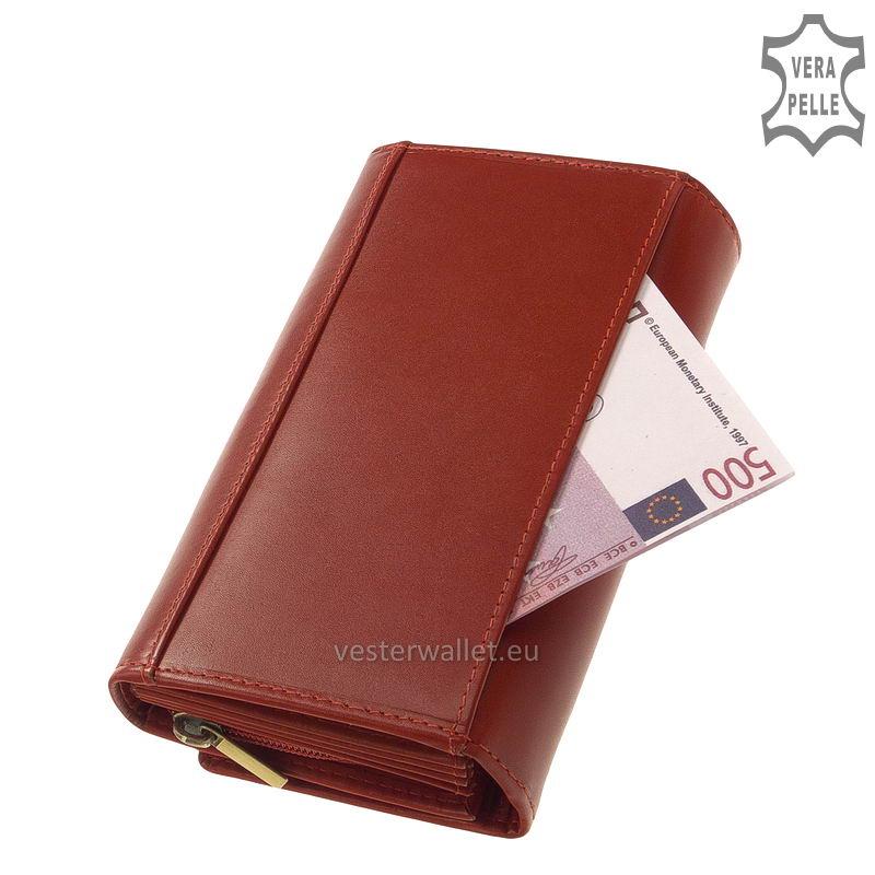 Elegáns Vester női bőr pénztárca VLN100 piros