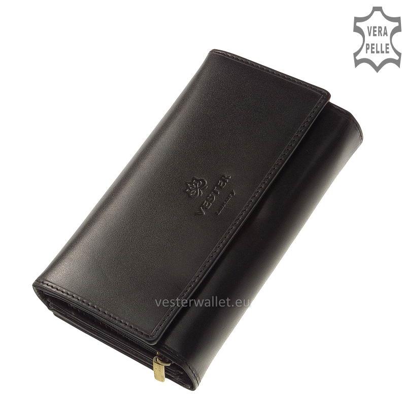 Elegáns Vester női bőr pénztárca VLN601 fekete