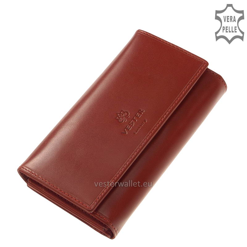 Elegáns Vester női bőr pénztárca VLN601 piros