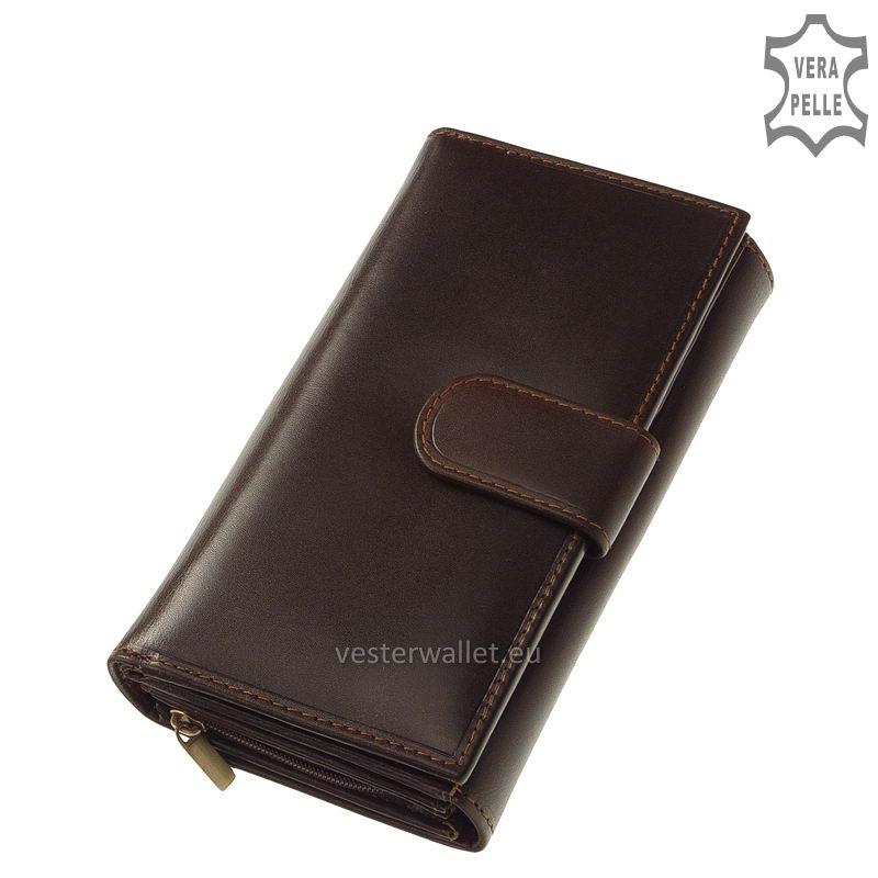 Elegáns Vester női bőr pénztárca VLN601 barna