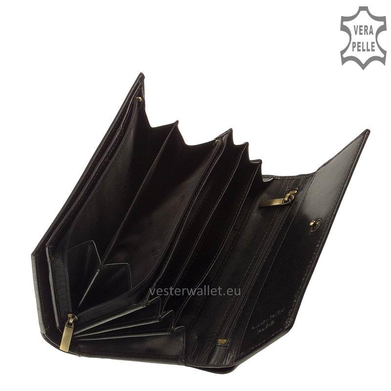 Elegáns Vester női bőr pénztárca VLN602 fekete