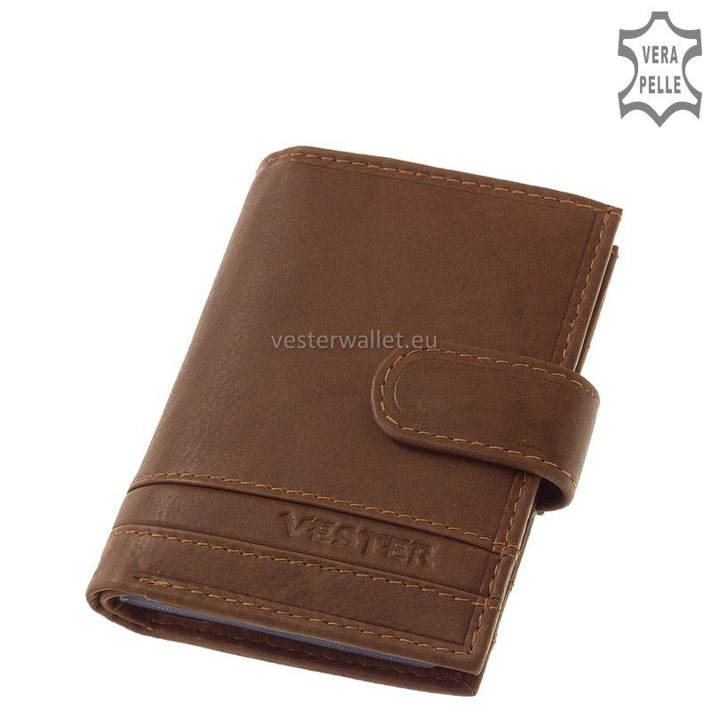 Stílusos Vester férfi kártyatartó VMV808/T világos barna