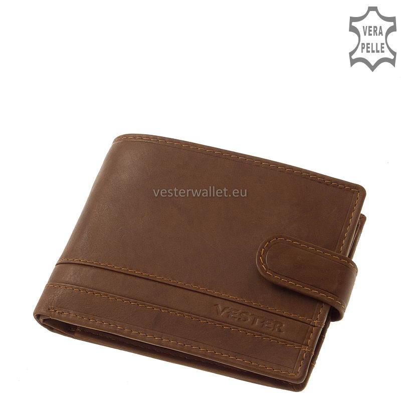 Stílusos Vester férfi pénztárca VMV09/T világos barna