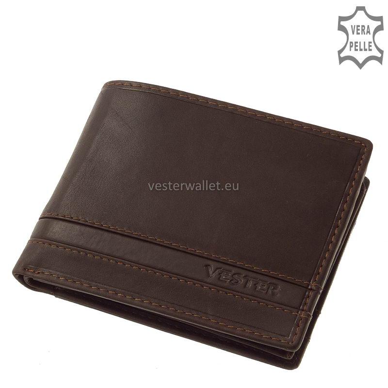 Stílusos Vester férfi pénztárca VMV09 barna