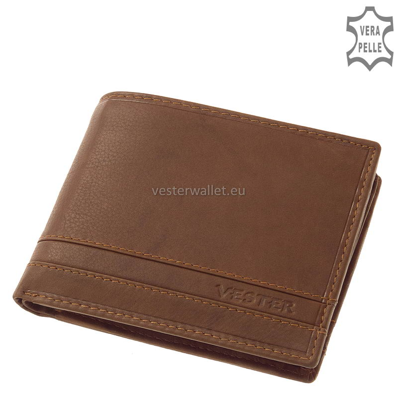 Stílusos Vester férfi pénztárca VMV09 világos barna
