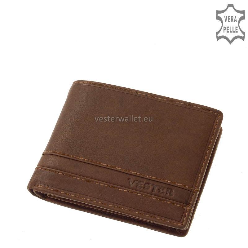 Stílusos Vester férfi pénztárca VMV102 világos barna