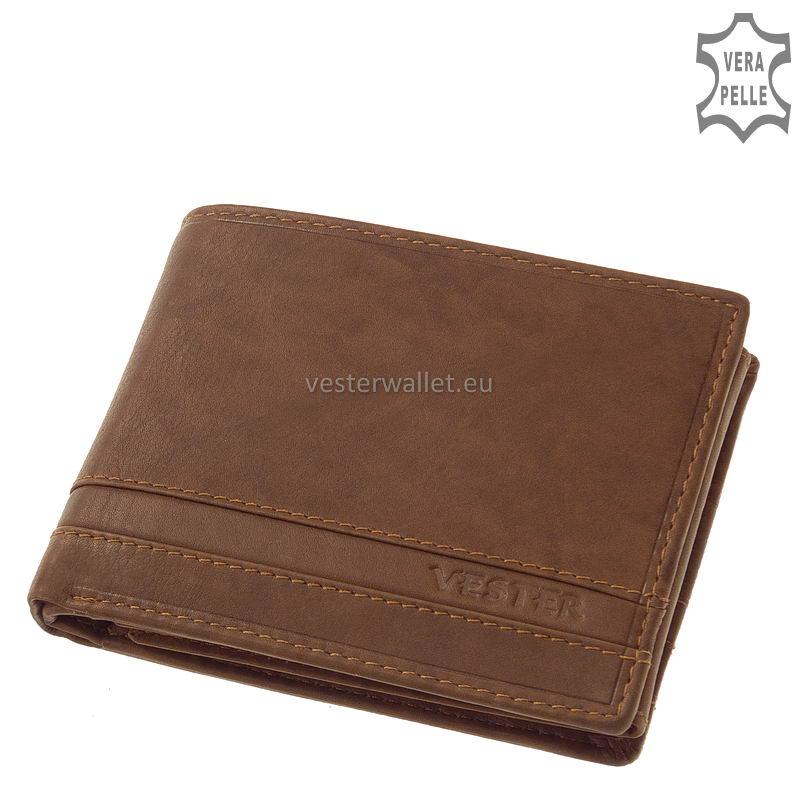 Stílusos Vester férfi pénztárca VMV1021 világos barna