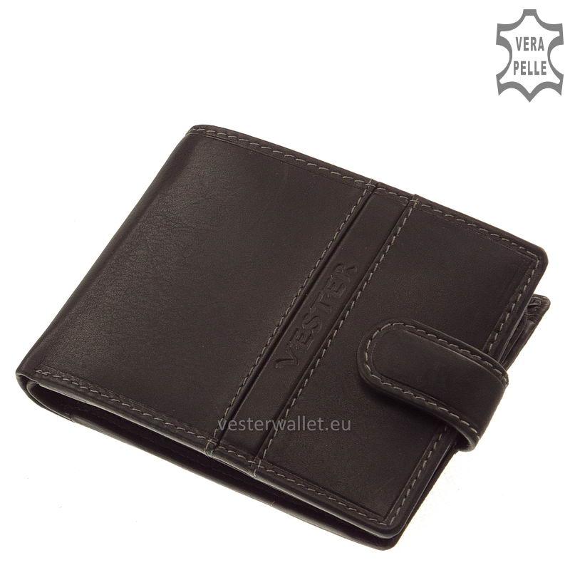 Finom tapintású fekete férfi pénztárca VMF09/T