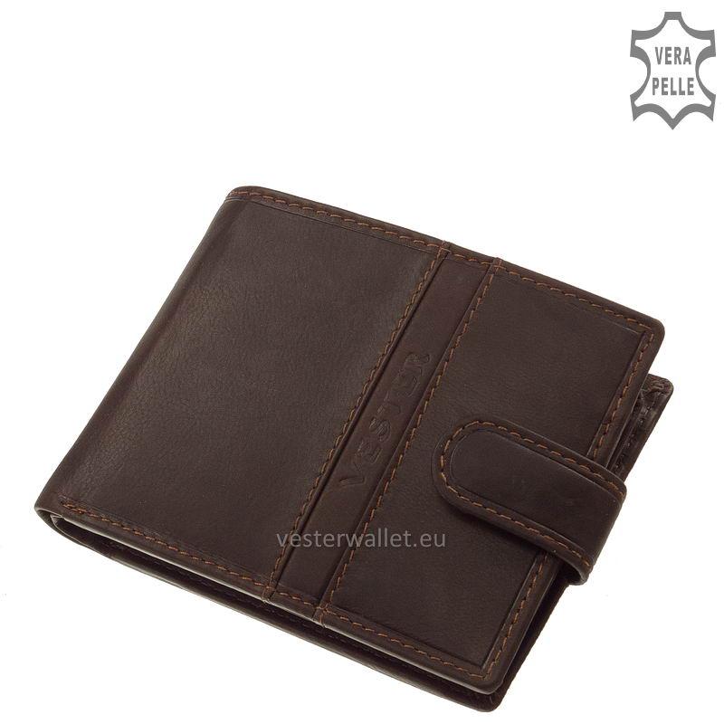 Finom tapintású barna férfi pénztárca VMF09/T