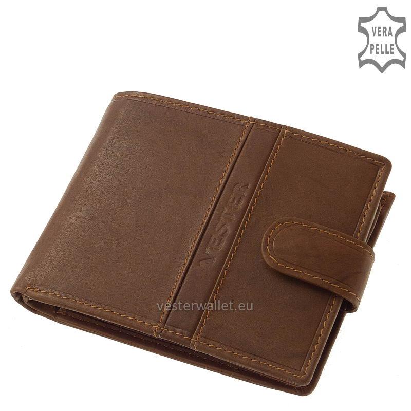 Finom tapintású világos barna férfi pénztárca VMF09/T