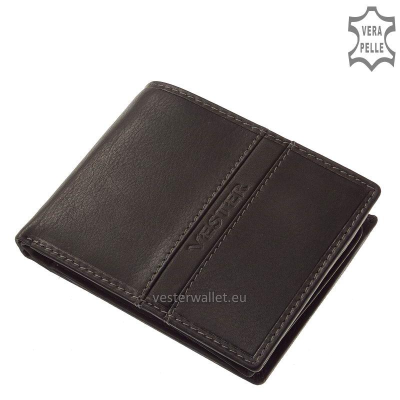 Finom tapintású fekete férfi pénztárca VMF09